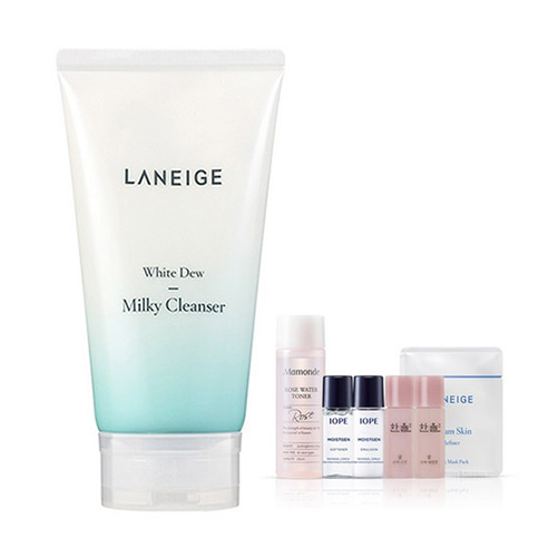 [Laneige] White Dew Milky Cleanser 150ml + Amore Pacific Small Kit (Weight : 245g + 125g)