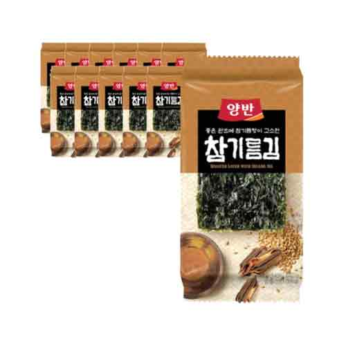 Dongwon Seasoned Laver with Sesame Oil 5g X 12EA (Weight : 200g)